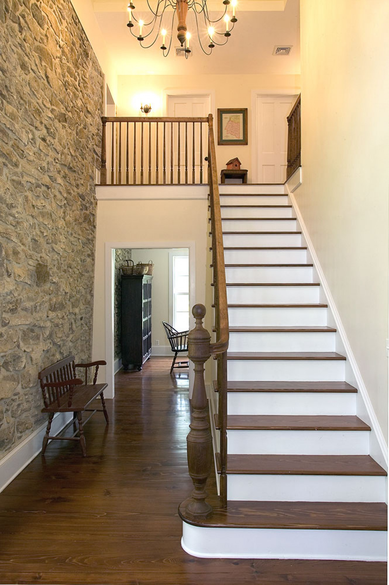 18th c farmhouse upper black eddy pa for 2 story foyer conversion