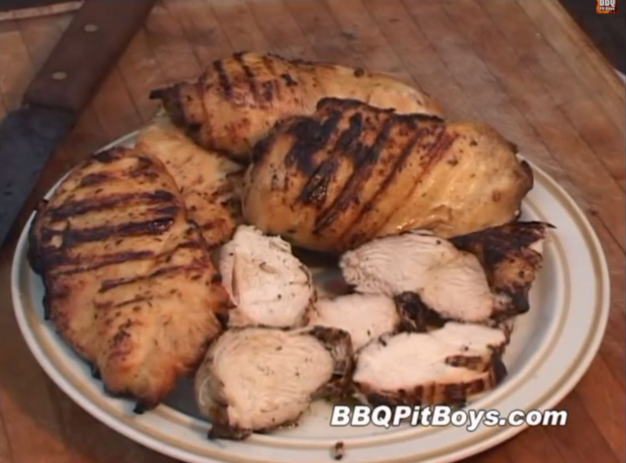 how to cook chicken breast on bbq pit