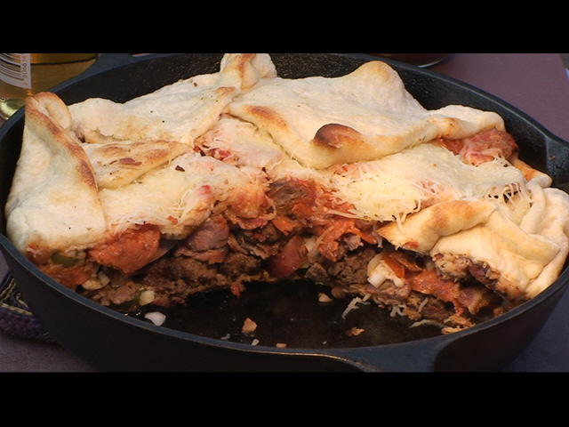Pizza Pot Pie Recipe Black Iron Pizza Pot Pie