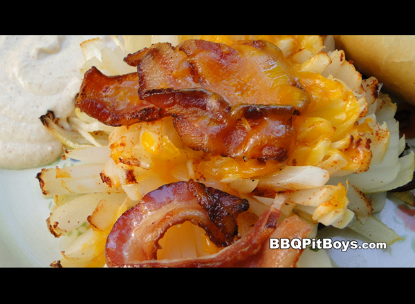 Grilled Onion Bacon Cheese Buds Recipe | BBQ Pit Boys