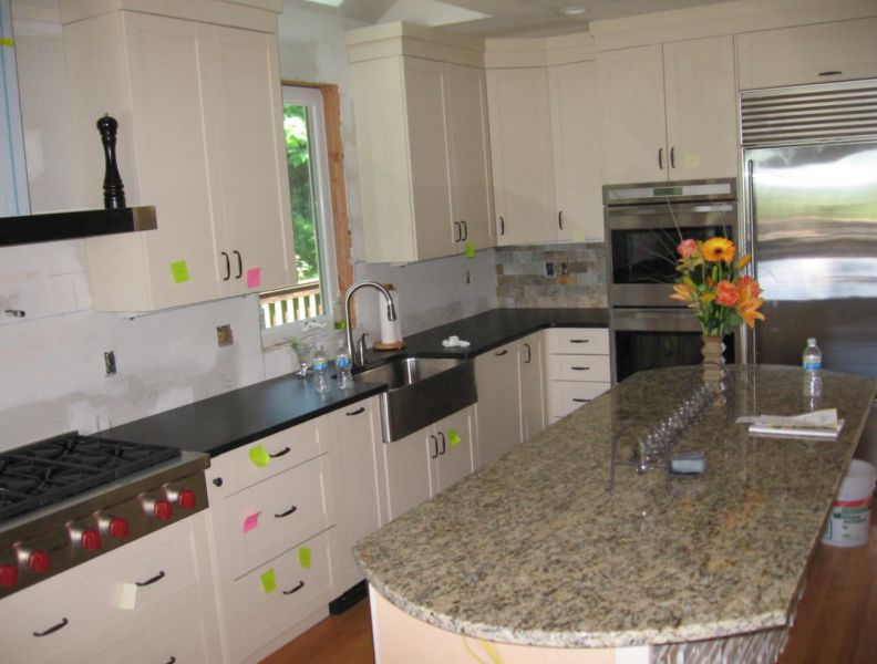 Es Countertops Granite Absolute Black Honed Kitchen