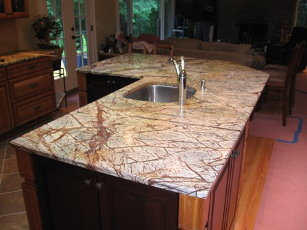 Marble Rainforest Brown Kitchen Countertop U0026 Island Top