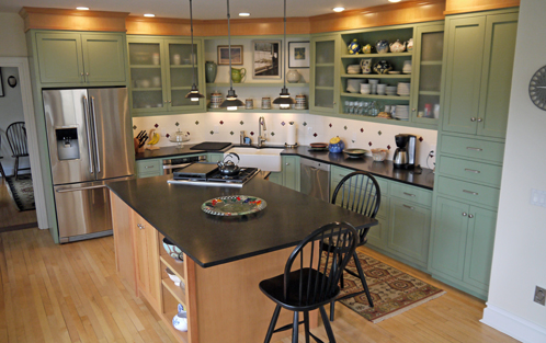 Countertop over washer and dryer up