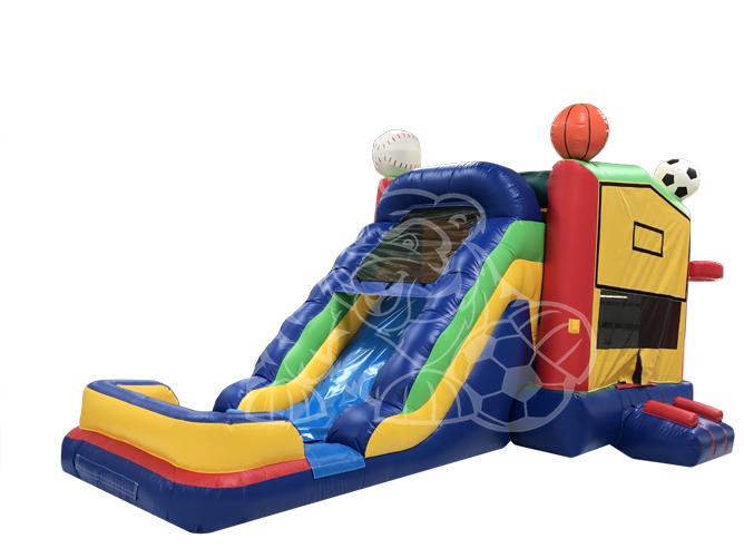 ALL Sports 4-1 Modular Combo Bounce House Hopper  WET or DRY image - Jacksonville, FL