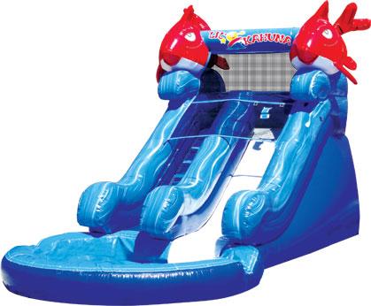 Lil Kahuna Slide 14' Bounce House Water Slide WET or DRY image - Jacksonville, FL