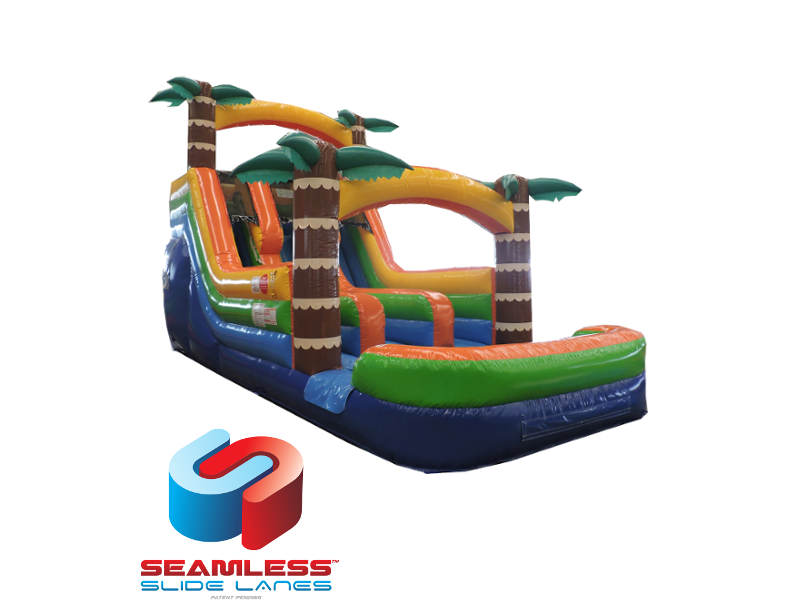 Adventure Island 16' Double Lane ' Bounce House Water slide WET of DRY image - Jacksonville, FL