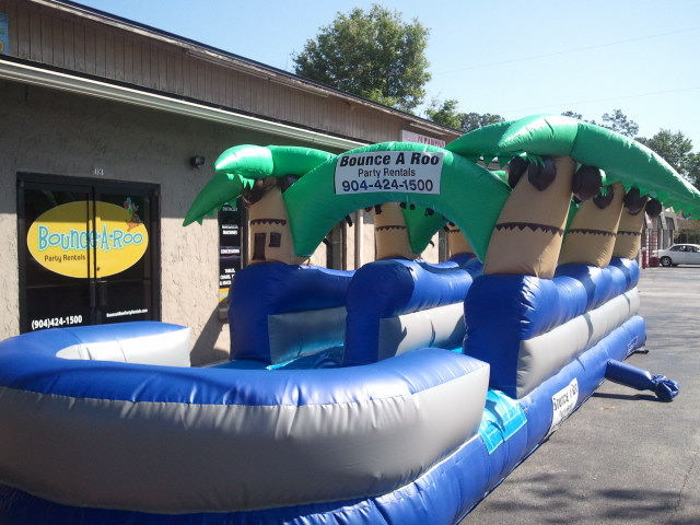 Palm Tree Slip n Slide  30' Bounce House Waterslide WET or DRY image - Jacksonville, FL