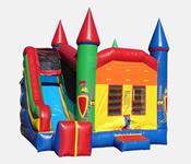 Castle Theme 4-1 Combo Bounce House Hopper image - Jacksonville, FL