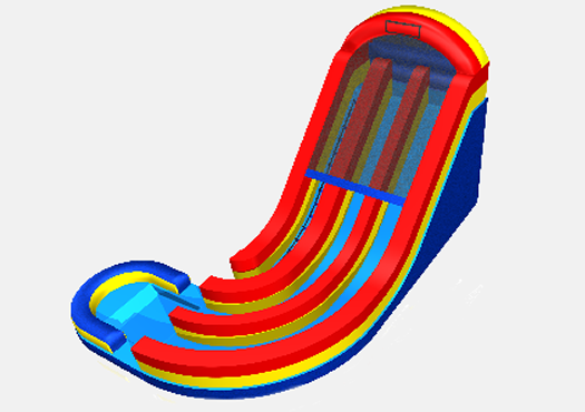 Double Corkscrew - 19' Bounce House Waterslide WET or DRY image - Jacksonville, FL