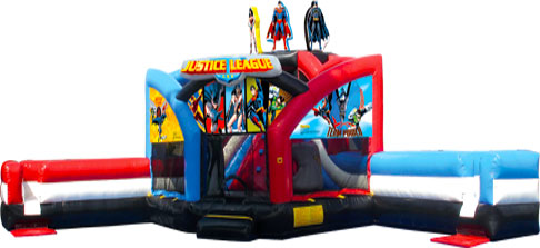 Justice League Double Challenge Bounce House Hopper WET or DRY image - Jacksonville, FL