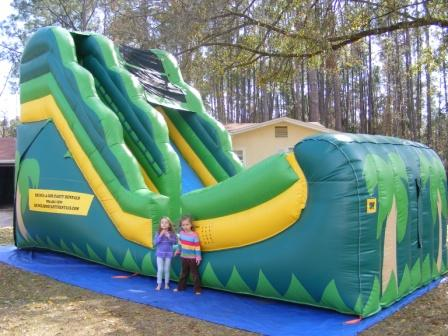Tropical Slide  18' Bounce House Waterslide WET or DRY image - Jacksonville, FL