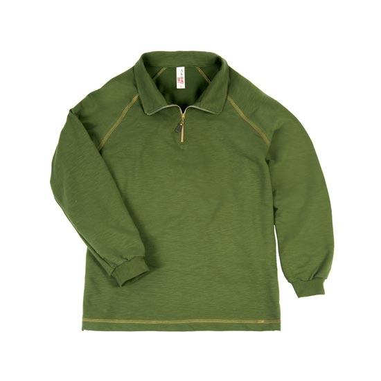Slub terry cloth zipper sweatshirt made in usa for Custom t shirts manchester ct