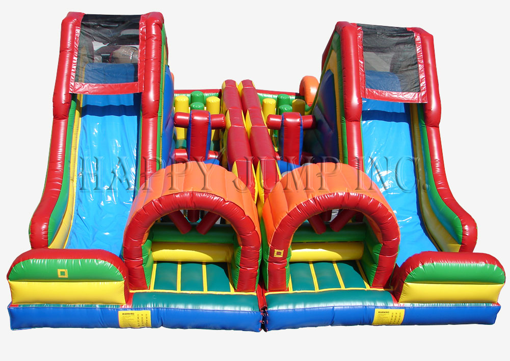 Carnival Course Double Challenge Bounce House Water Slide image - Jacksonville, FL