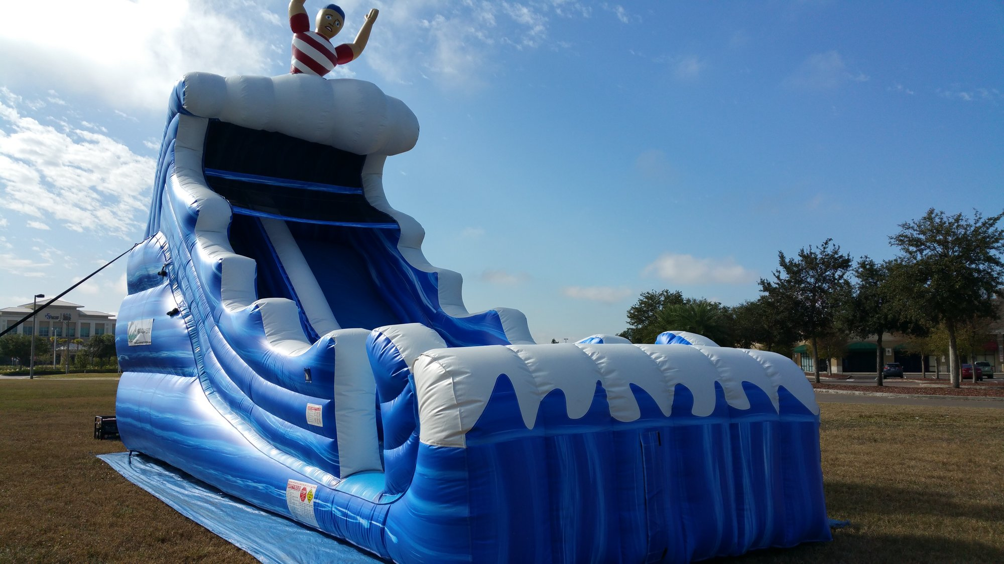 Tsunami Slide  22'  Bounce House Waterslide WET or DRY image - Jacksonville, FL