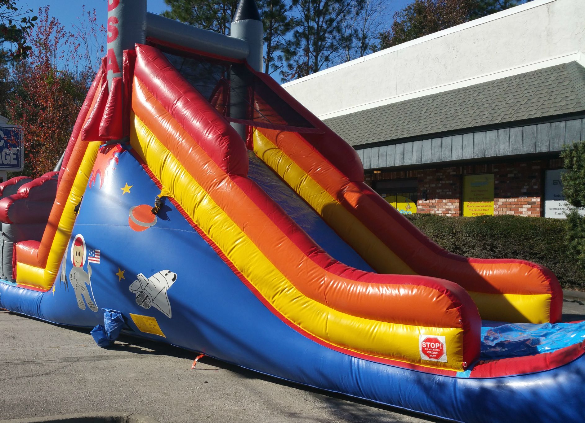 USA Rocket Slide 16' Bounce House Waterslide Wet or Dry image - Jacksonville, FL