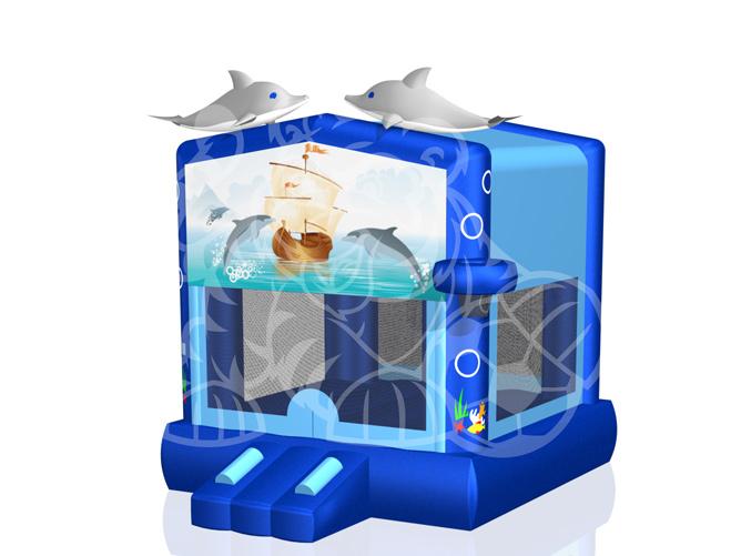Modular Dolphin Bounce House Hopper image - Jacksonville, FL