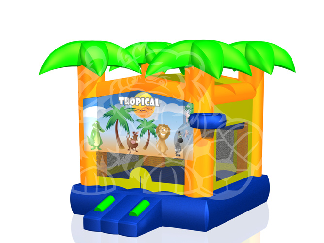 Modular Palm Tree Bounce House Hopper  image - Jacksonville, FL