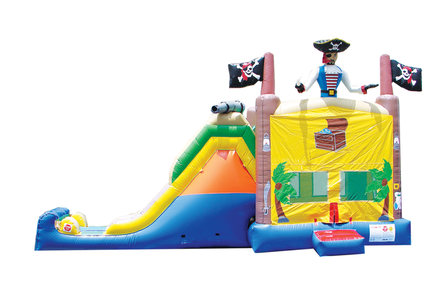 Pirate Treasure 4-1 Combo Bounce House Hopper  WET or DRY image - Jacksonville, FL