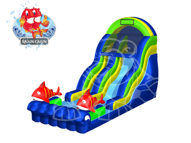 Rajun Cajun Slide  19' Bounce House Waterslide WET or DRY image - Jacksonville, FL