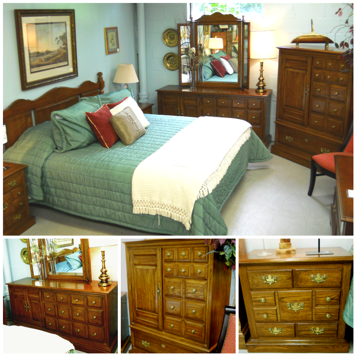 "Used Furniture Gallery: 1-12624 ""Pennsylvania House"" (Chest, Dresser W/ Mirror"