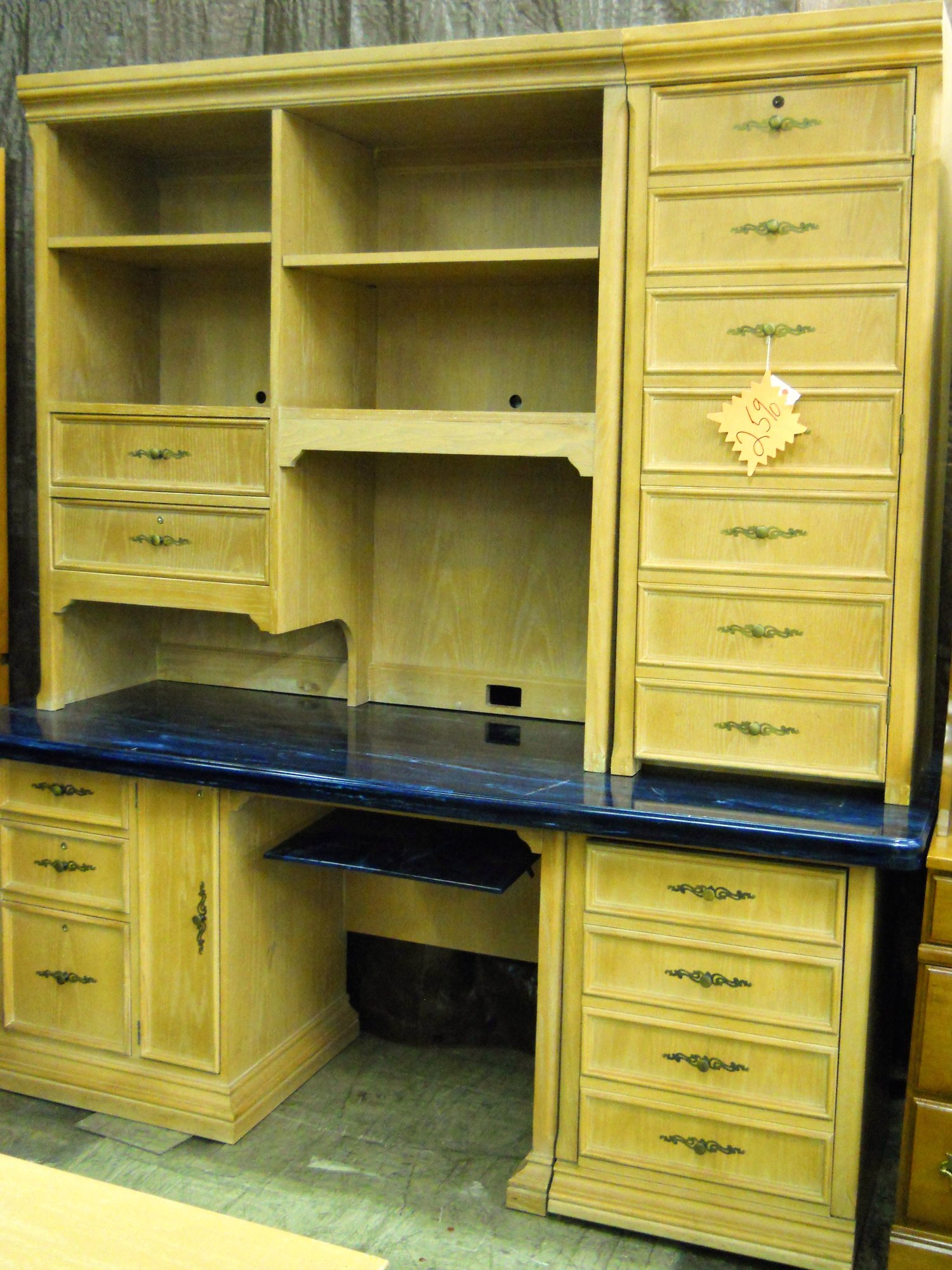 P1 11422 Heckman Desk Wall Unit With Keys Is Sold