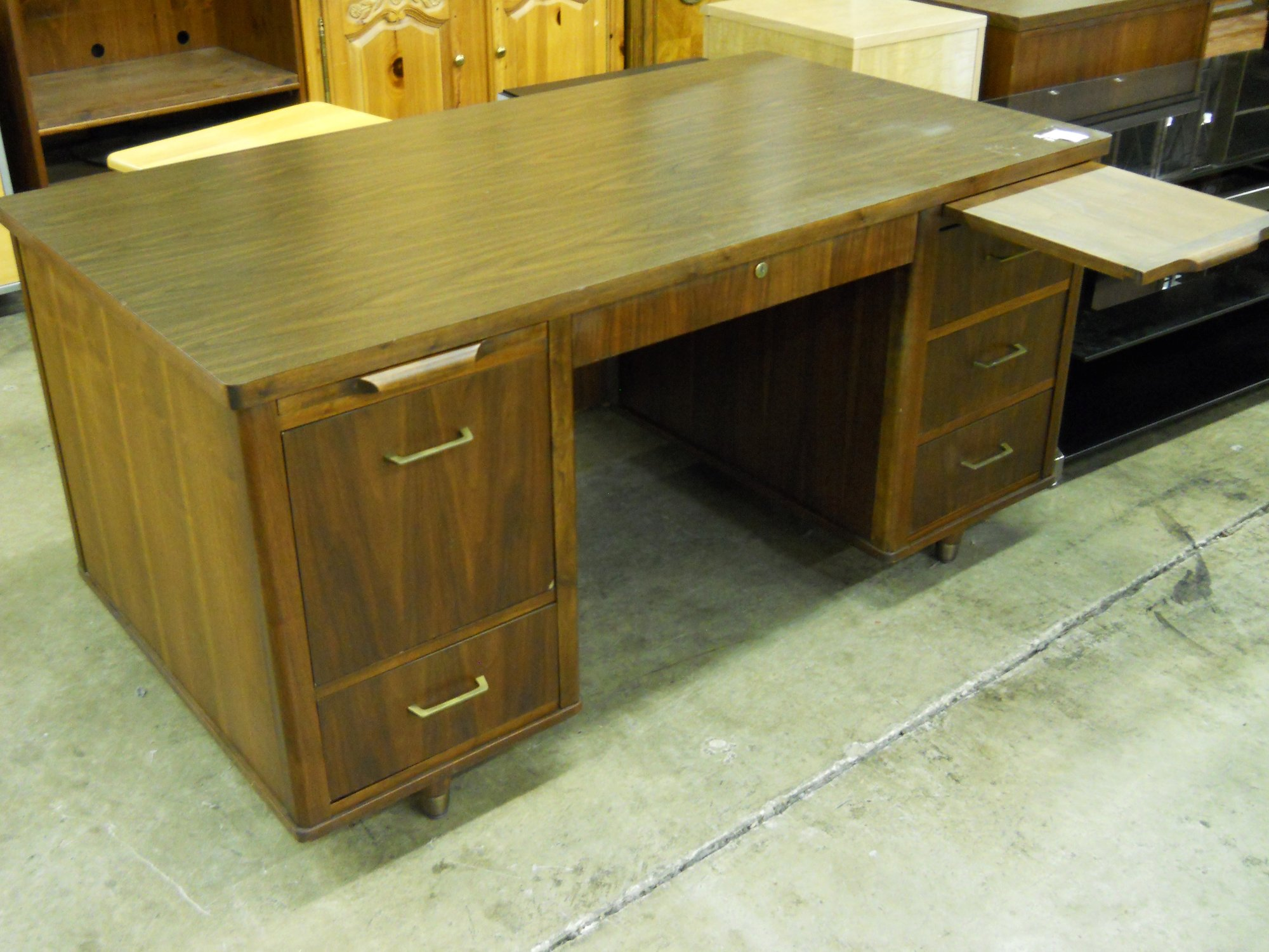 1 13253 Mid Century Style Desk Is Sold