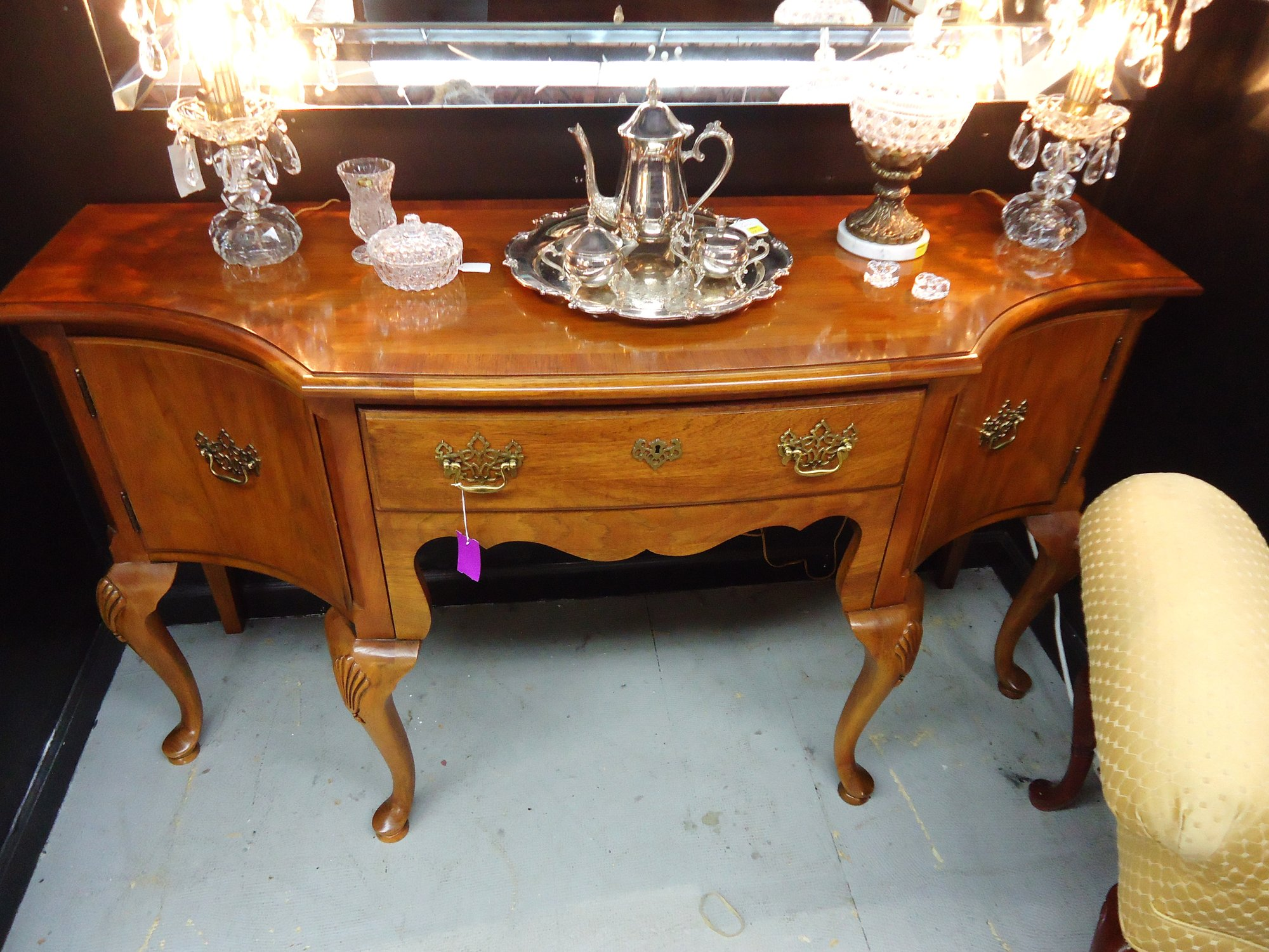 1 13537 Thomasville Queen Ann Sideboard Is Sold