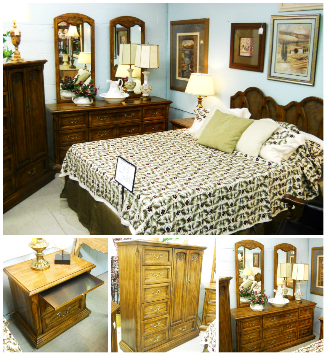 1 13672 american of martinsville queen bedroom set for American martinsville bedroom furniture