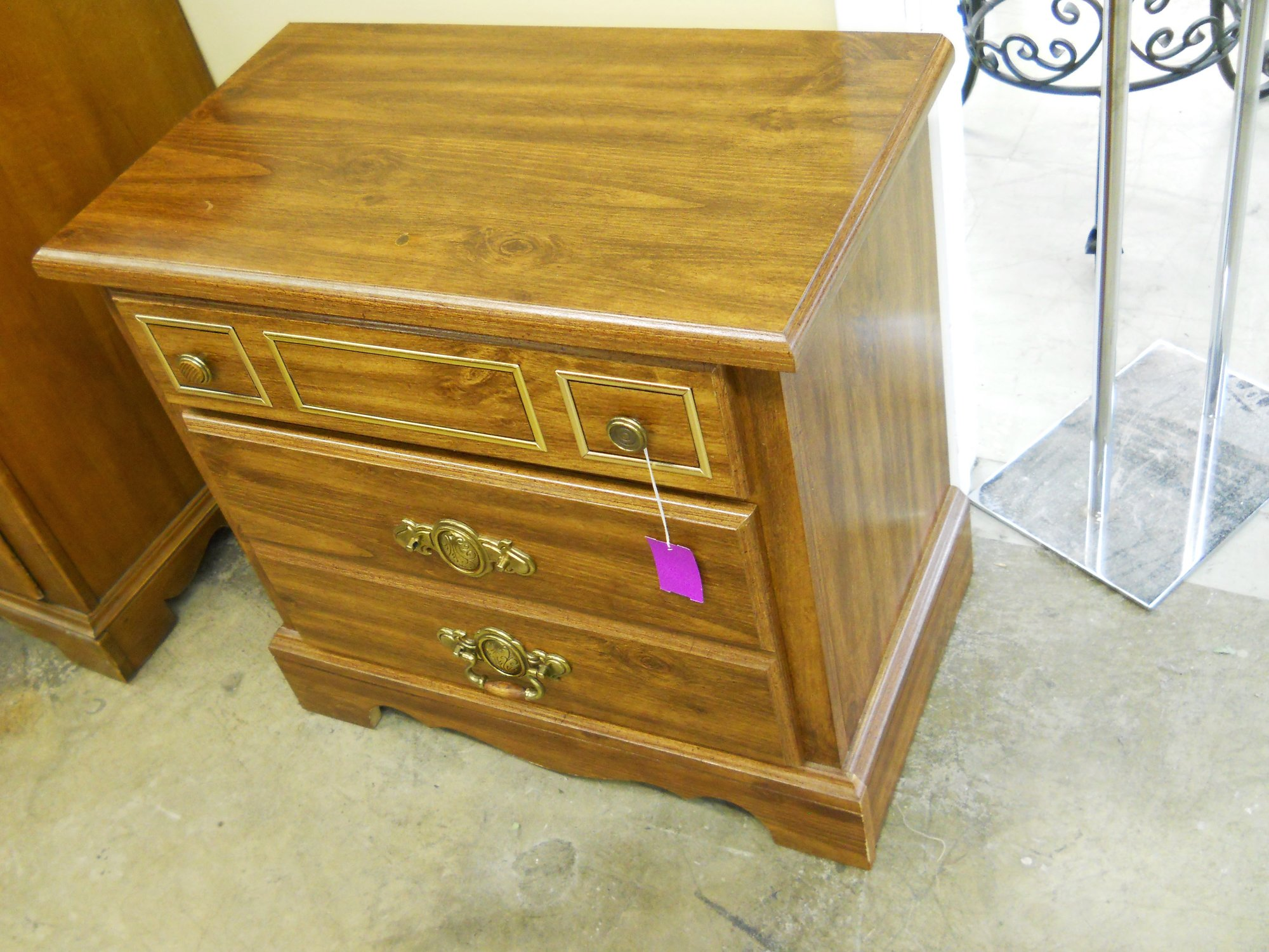 White Washed Oak Nightstand