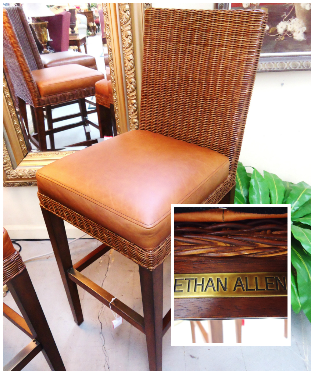 Used Furniture Gallery: 1-1415 Ethan Allen Leather Barstool