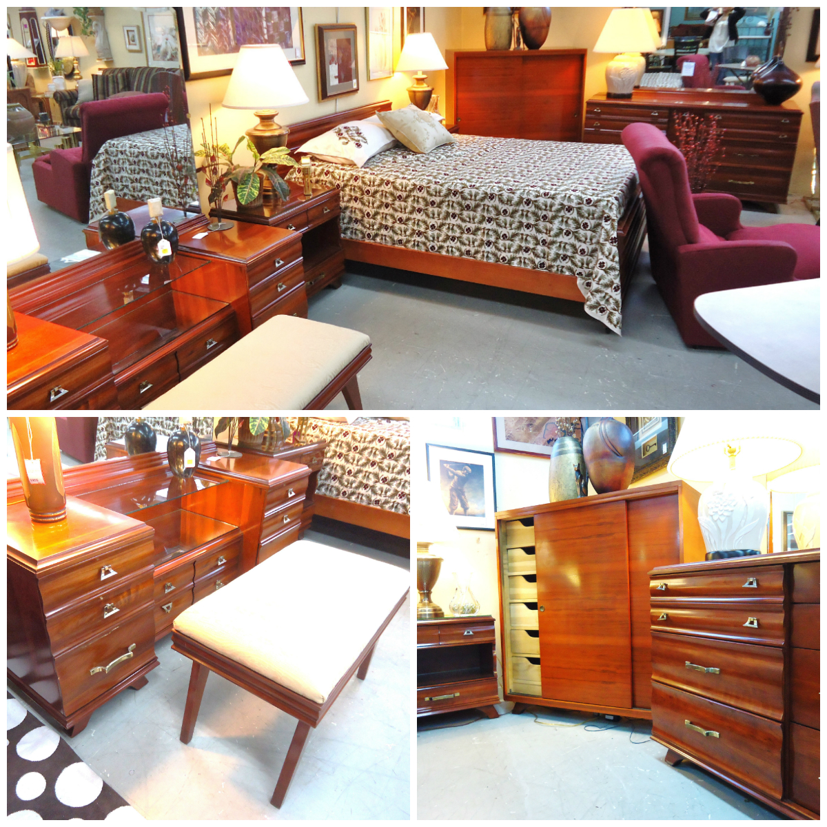 "Used Furniture Gallery: 1-14294"" Kling Furniture"" Solid Cherry 6pc Bedroom Set"
