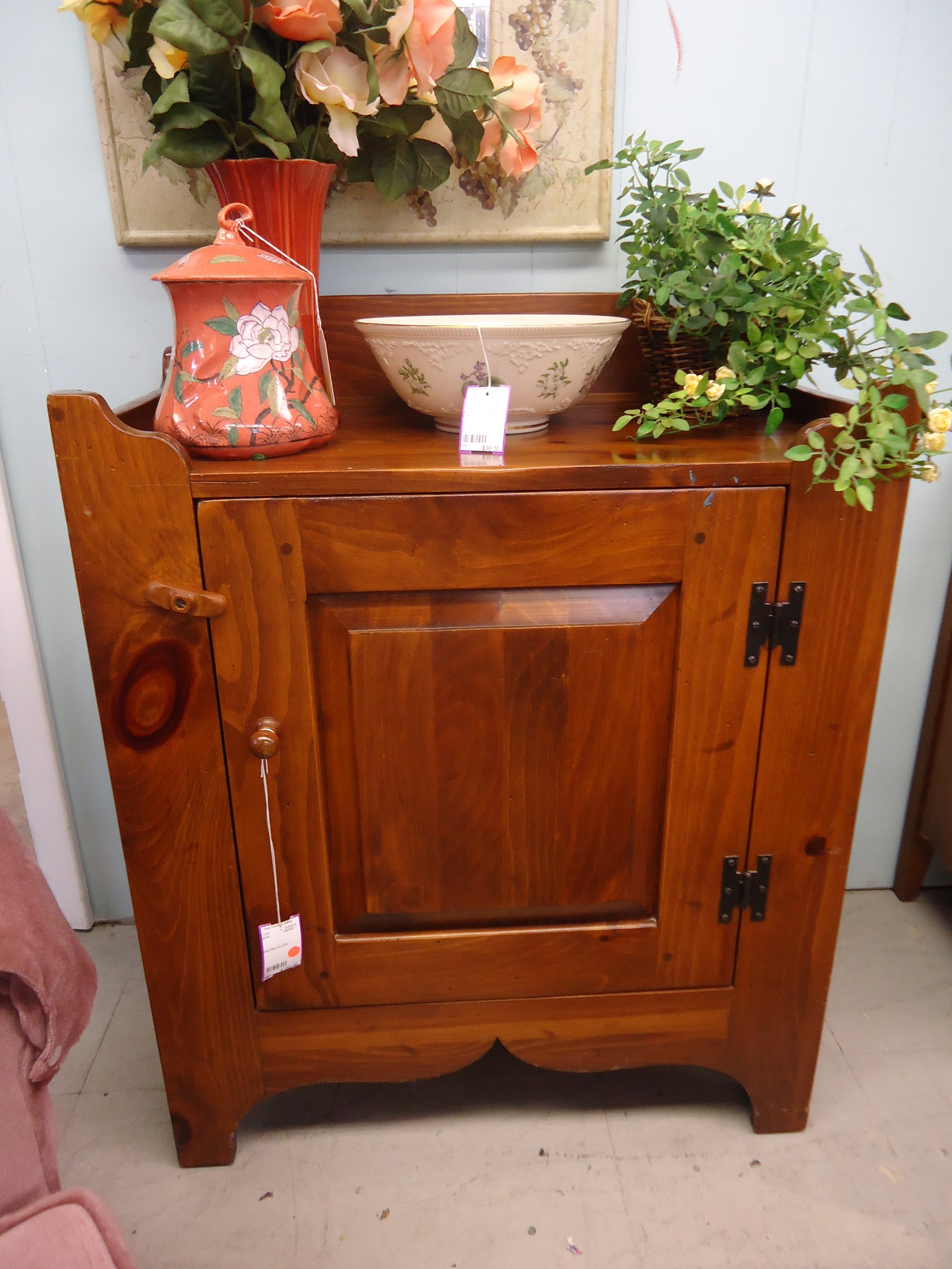 1 13741 Ethan Allen Pine Dry Sink