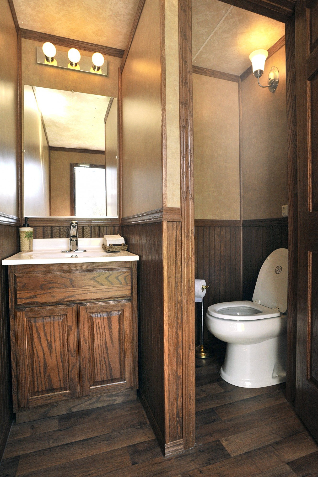 toilet with option carrier portfolio frame trailers bathroom portable