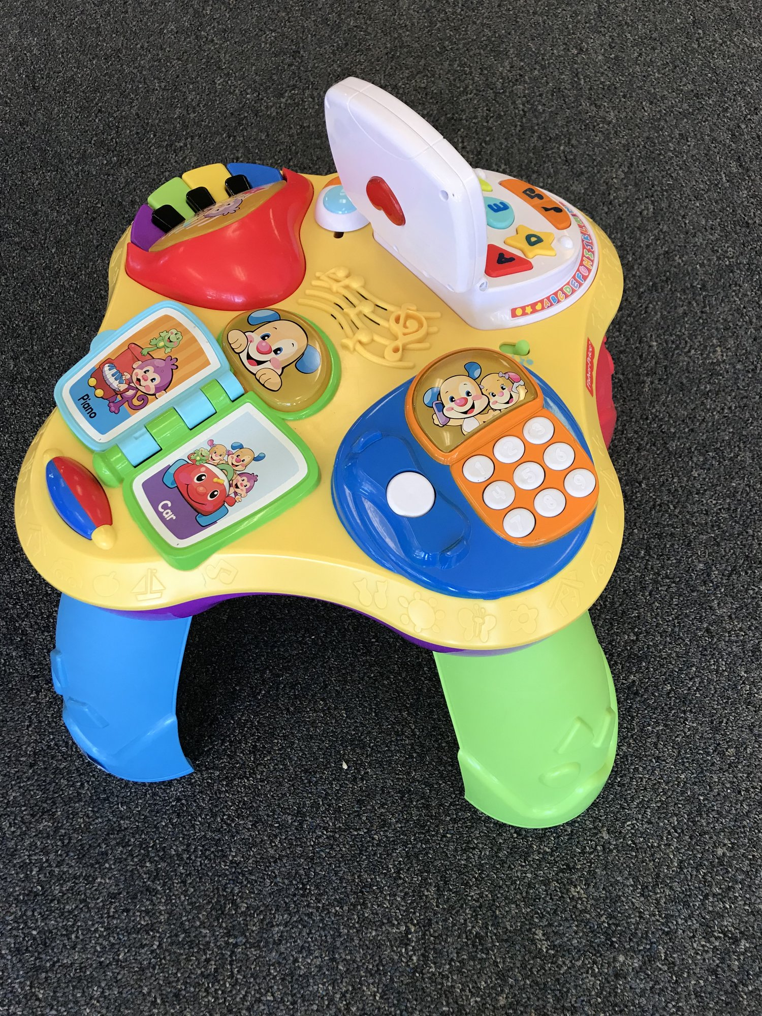 Fisher Price Activity Table w/sounds.  A must have for those 9 mo-18-months in age!  Great condition and super clean! NO SHIPPING, in store pick up only