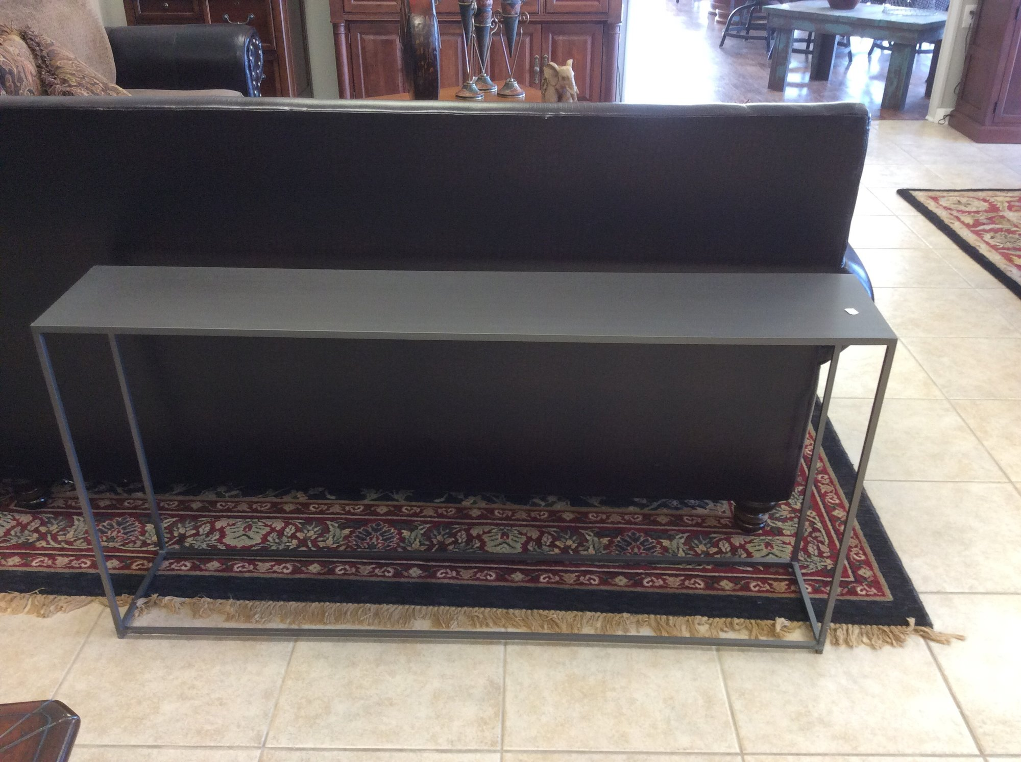CB Steel Ind Sofa Table Riverbridge Resale Consignment - Cb2 sofa table