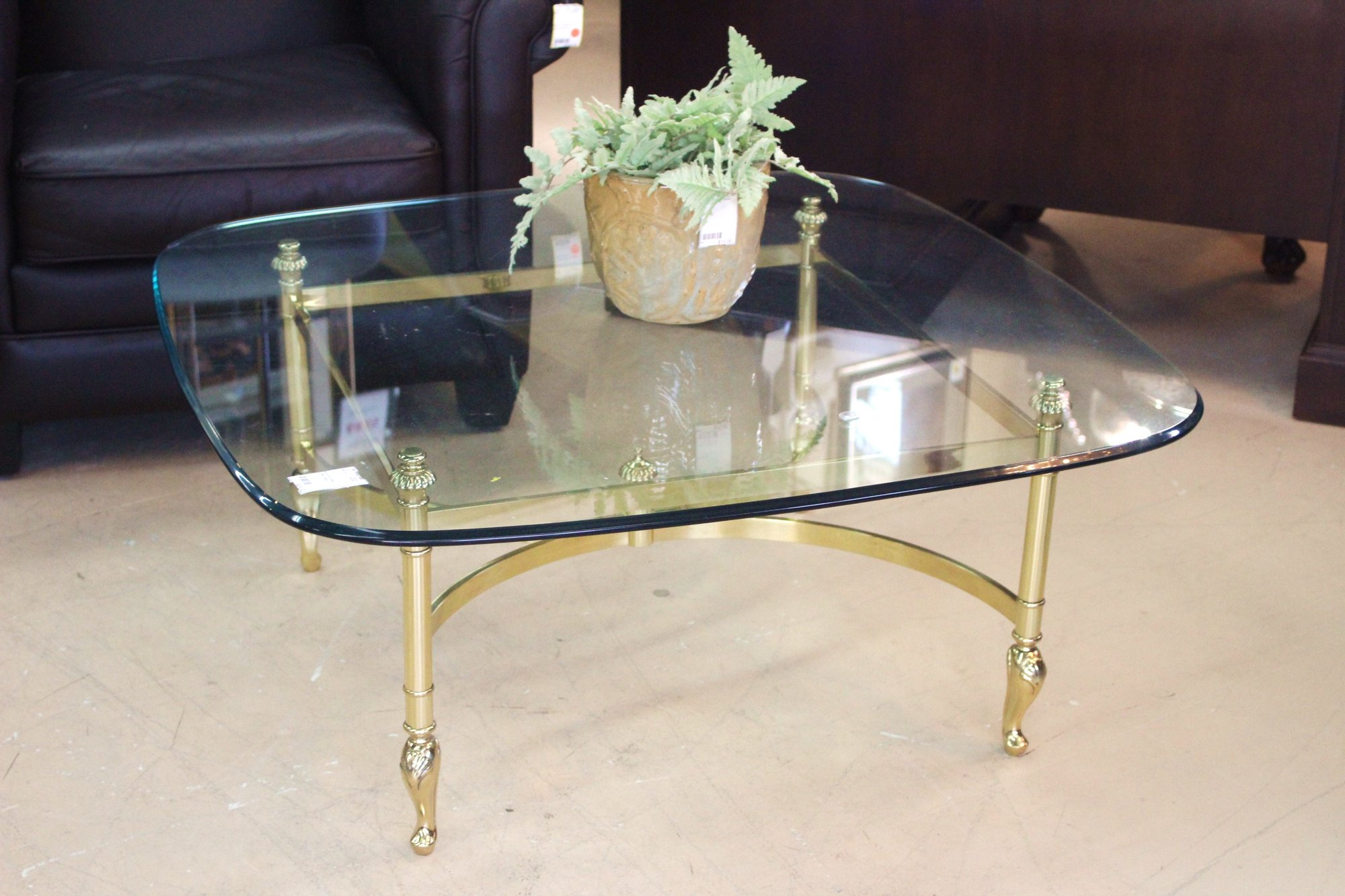 1 17227 Br And Gl Coffee Table